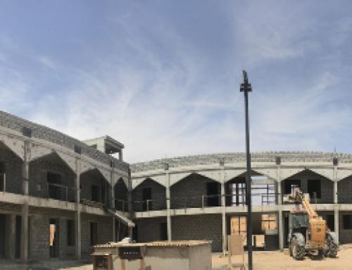 أعمال بناء مركز الصحراء في تقدم كبير